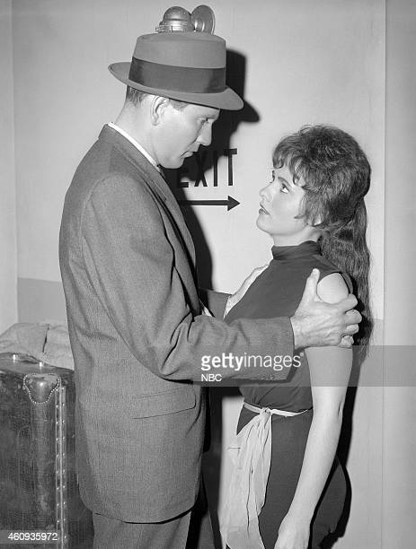 PRECINCT 'Out of Order' Epsiode 18 Pictured Gregory Walcott as Det Roger Havilland Dawn Wells as Kathy
