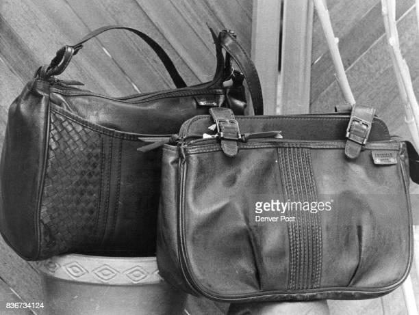 Out of the west And into the age of synthetics these leatherlook vinyl handbags are designed to look like Old West saddlebags sans a realleather...