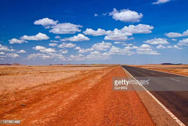 Outback Landscape with straight road