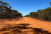 Gravel road in the middle of the outback, Australia