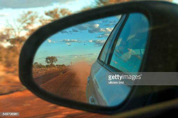Outback road mirror reflection Central Midlands Western Australia
