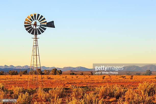 Outback windmill. Flinders Ranges. Australia.