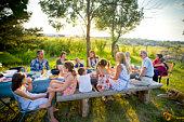 outdoor, backyard, Summer dinner