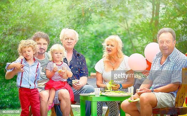 Outdoor Big Family Barbecue