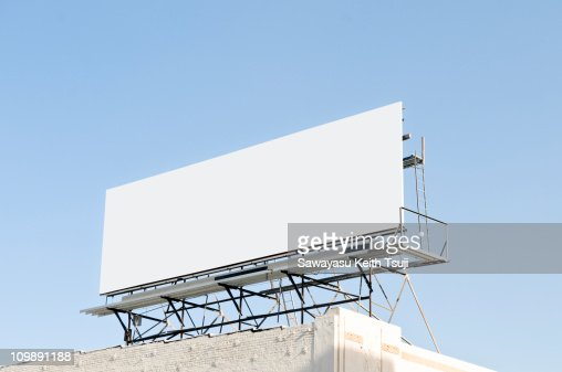 Outdoor blank billboard : Foto de stock