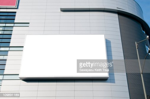Outdoor blank billboard : Stock Photo