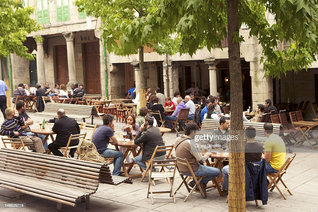 Outdoor cafes. : Stock Photo
