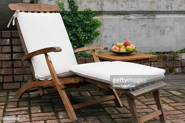 Outdoor chair on patio
