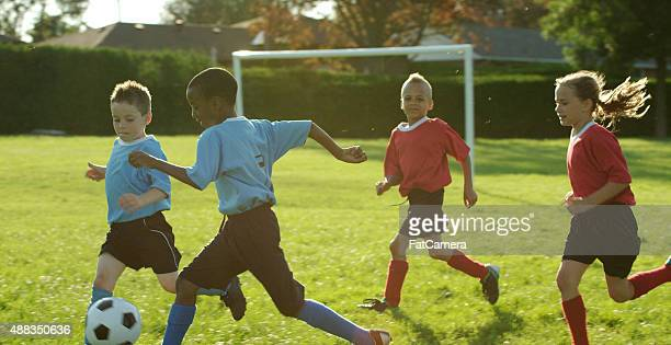 Outdoor Children Soccer Game