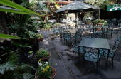 Outdoor Courtyard at Commander's Palace restaurant in New Orleans Louisiana on January 27 2005