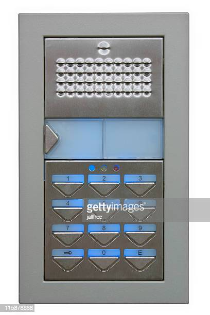 Outdoor digital door security access keypad with path