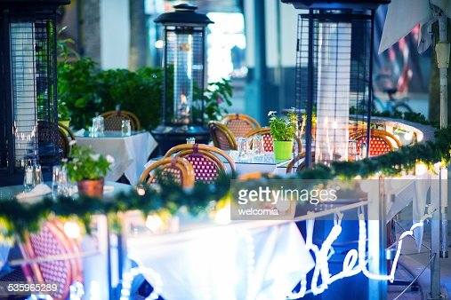 Outdoor Dining Area : Stock Photo