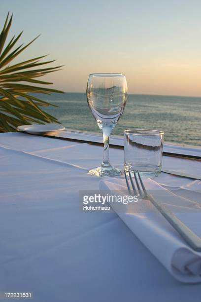 outdoor dinner setting