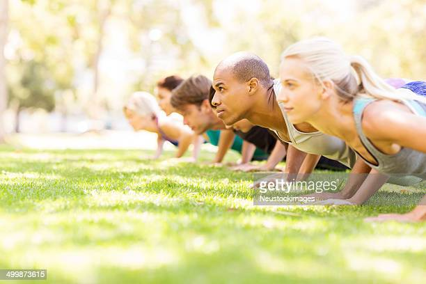 Outdoor Fitness Bootcamp In The Park