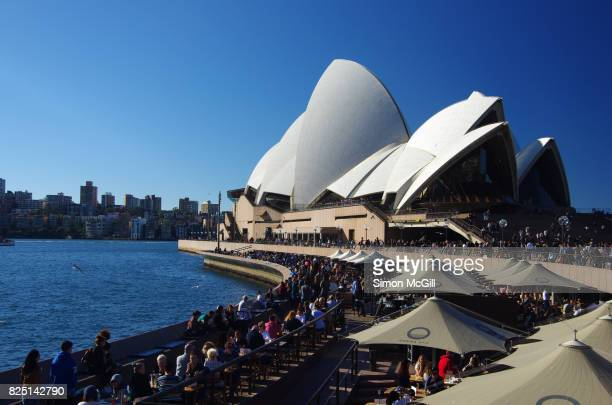 Outdoor forecourt of the Sydney Opera House, Bennelong Point, Sydney, New South Wales, Australia