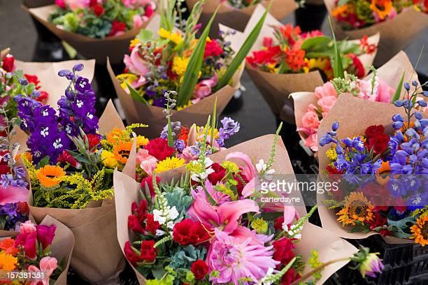 Im Freien frische Blumen-Markt