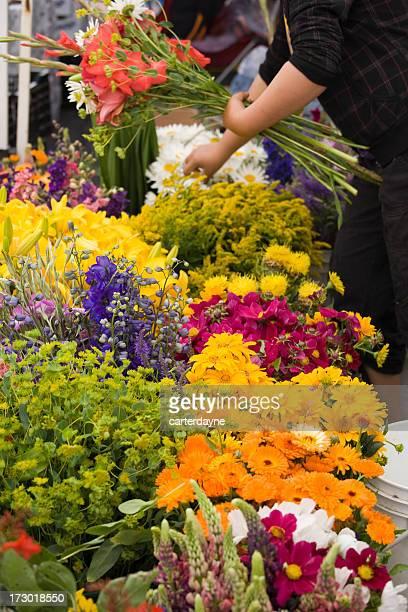 Outdoor fresh flower market