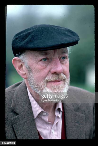 Outdoor headshot of actor Alec Guinness Photograph 1982