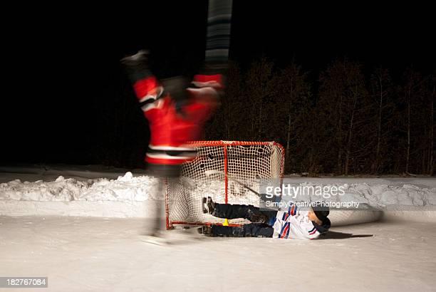 Outdoor Hockey Game
