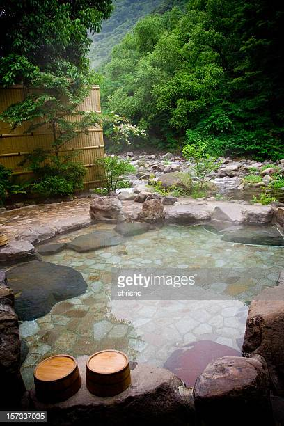 Outdoor hot springs bath - Hakone, Japan