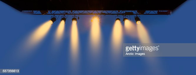 Outdoor lighting on a stage.