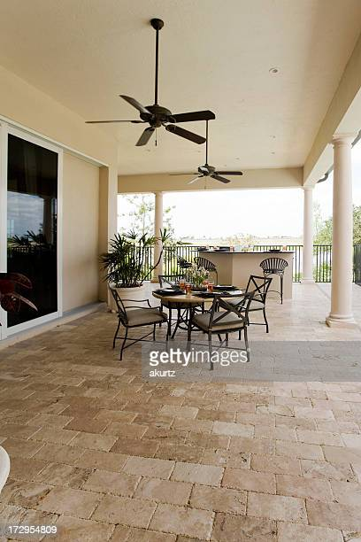 Outdoor luxury kitchen and patio