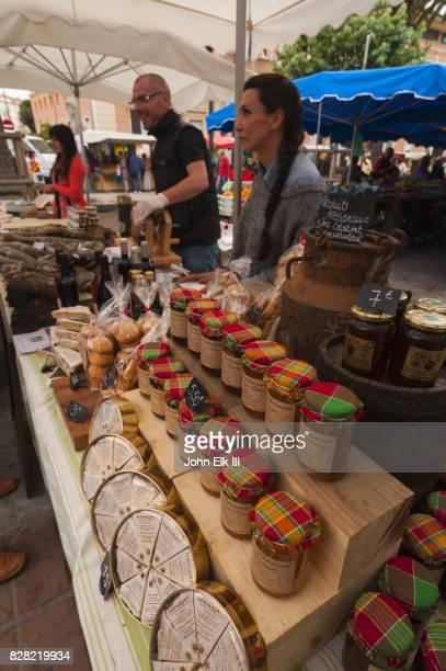 Outdoor market vendors in Ajaccio