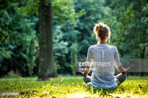 Outdoor meditation : Stock Photo