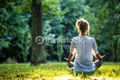 Outdoor meditation : Stock Photo