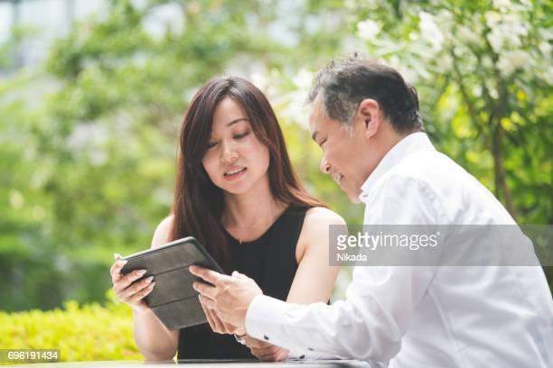Outdoor-treffen, Business-Team in Japan