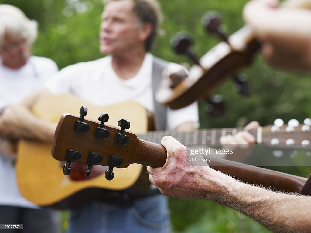 Outdoor musical performance : Stock Photo