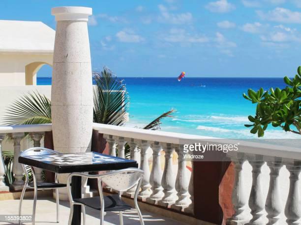 Outdoor patio on Caribbean Sea, Cancun
