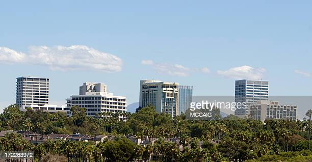 Outdoor photo of Orange County Fashion Island skyline