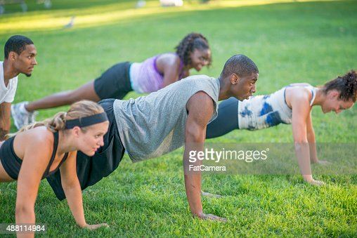 Outdoor Plank Workout