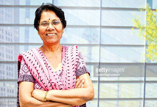 Outdoor Portrait of confident Senior Indian Woman