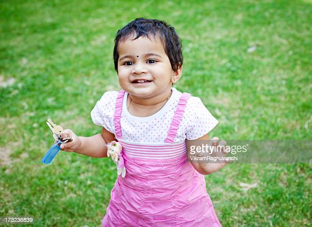 Outdoor Portrait of Cute Little Indian Girl