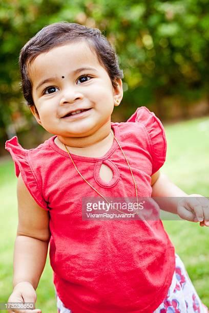 Outdoor Portrait of Cute Little Indian Girl