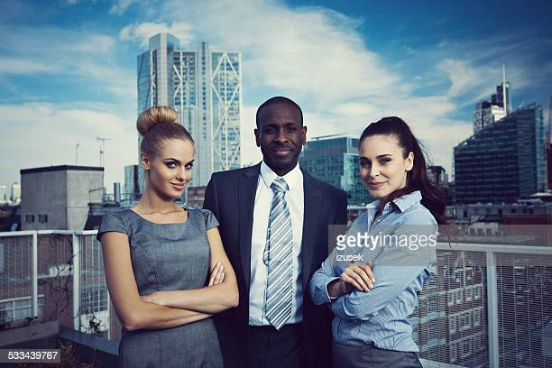 Outdoor Portrait of successful business people
