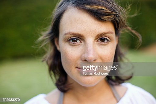 Outdoor portrait of woman : Stock-Foto