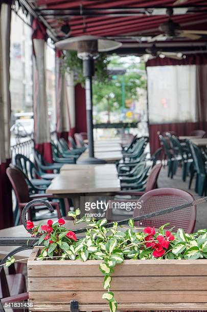 Outdoor restaurant patio