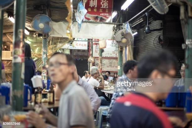 Outdoor restaurants in Kowloon, Hong Kong, China