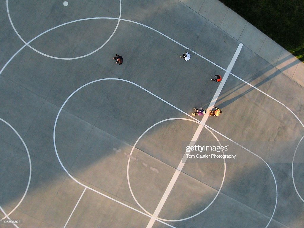 Outdoor roller derby court : Stock Photo