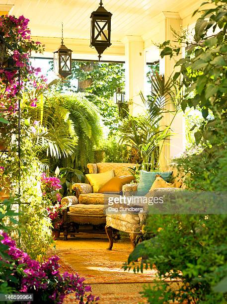 Outdoor room fillled with plants