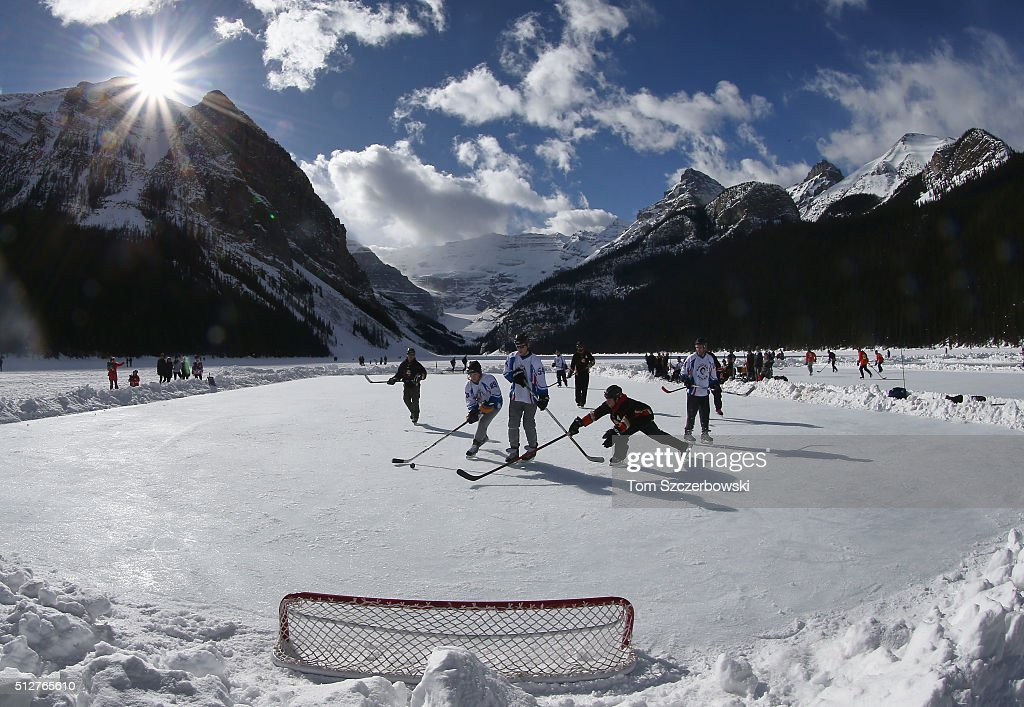 Lake Louise Pond Hockey Classic Getty Images
