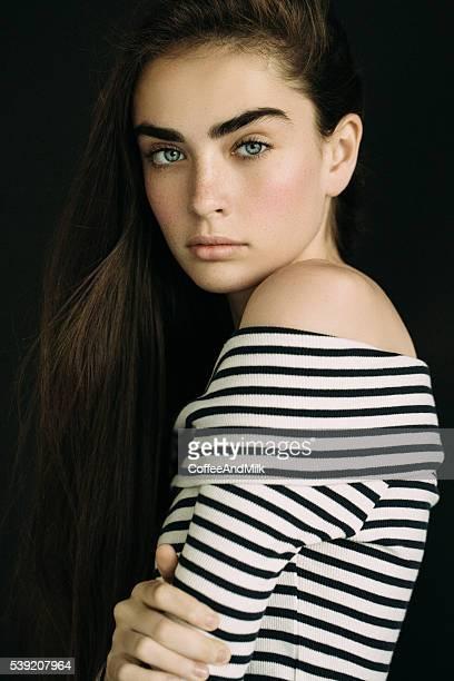 Outdoor shot of young beautiful woman