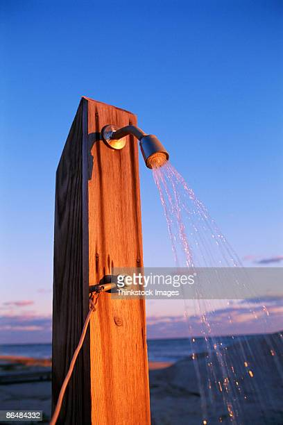 Outdoor shower at beach