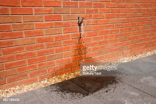 Outdoor tap with running water