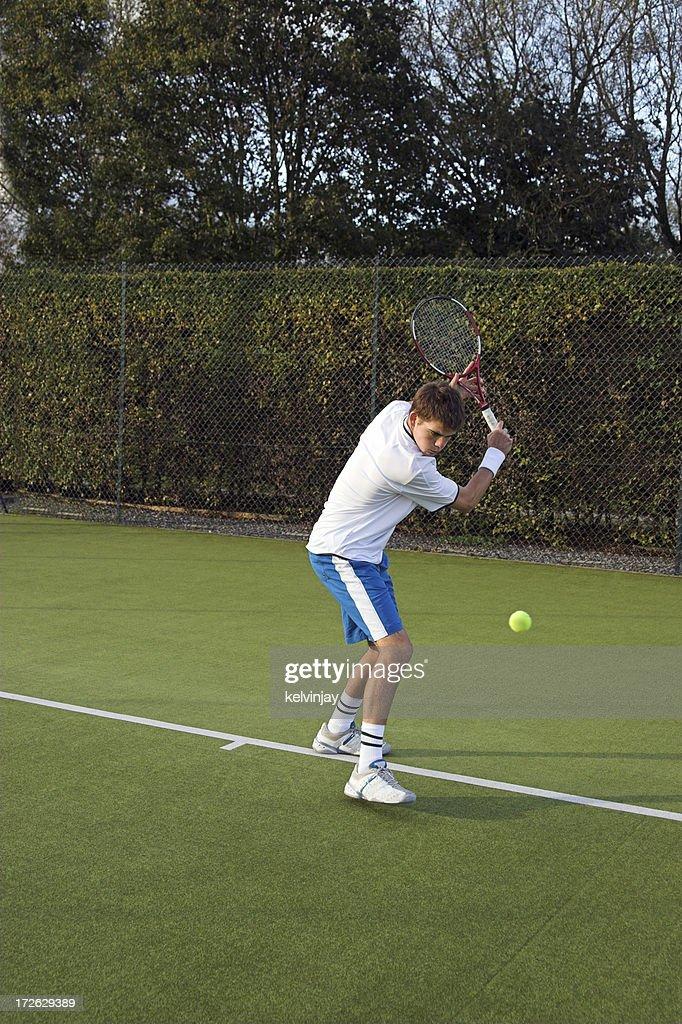 Outdoor tennis match