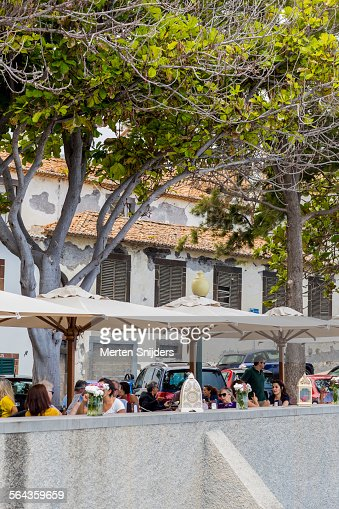 Outdoor terrace at Largo do Socorro