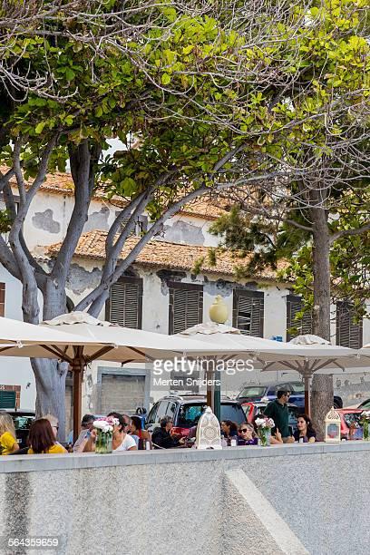 Outdoor terrace at Largo do Socorro